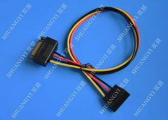 Internal 15 Pin Male To Female SATA Data Cable For Computer IDC Type
