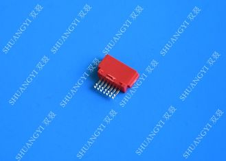 চীন Customized Red External SATA Connector Voltage 125Vac Female SMT 7 Pin সরবরাহকারী