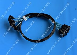 8 Inch SATA III 6.0 Gbps 7 Pin Female To Female Data Cable With Locking Latch Blue